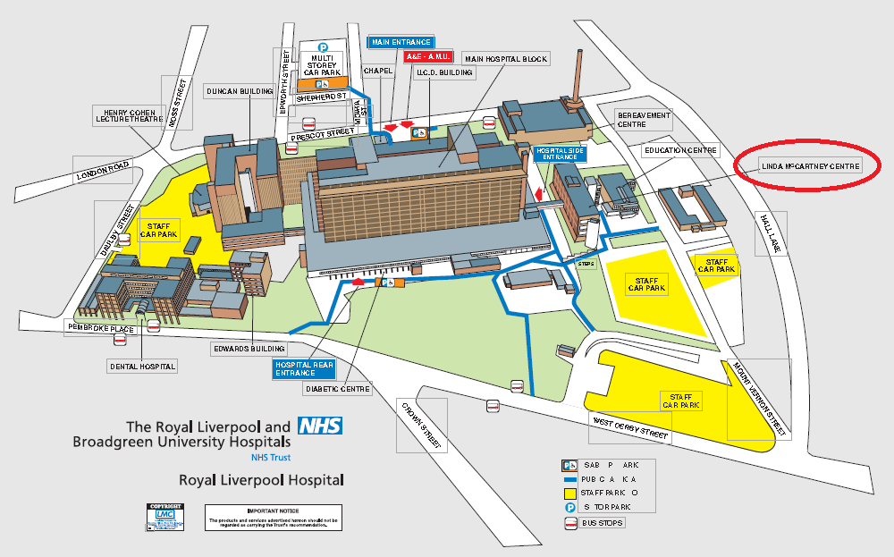 Broadgreen Hospital Map Patient Support   Cancer | Royal Liverpool Hospitals Broadgreen Hospital Map