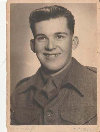 Rudy shortly after joining the Royal Welsh Fusiliers