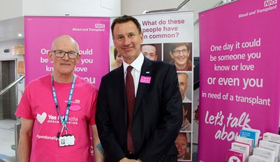 Jeremy Hunt with Paul Dixon