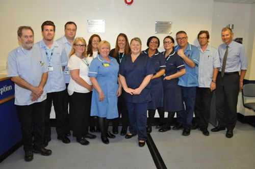 Some of the staff at St Paul's Eye Unit
