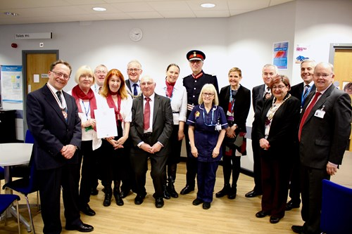 The 'Care for the Dying, Volunteers Service' provides support for patients who are receiving end of life care in the hospital
