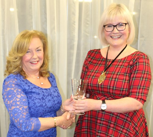 Professor Alison Ewing (L) with Ann Page, Co-Chair of UKCPA
